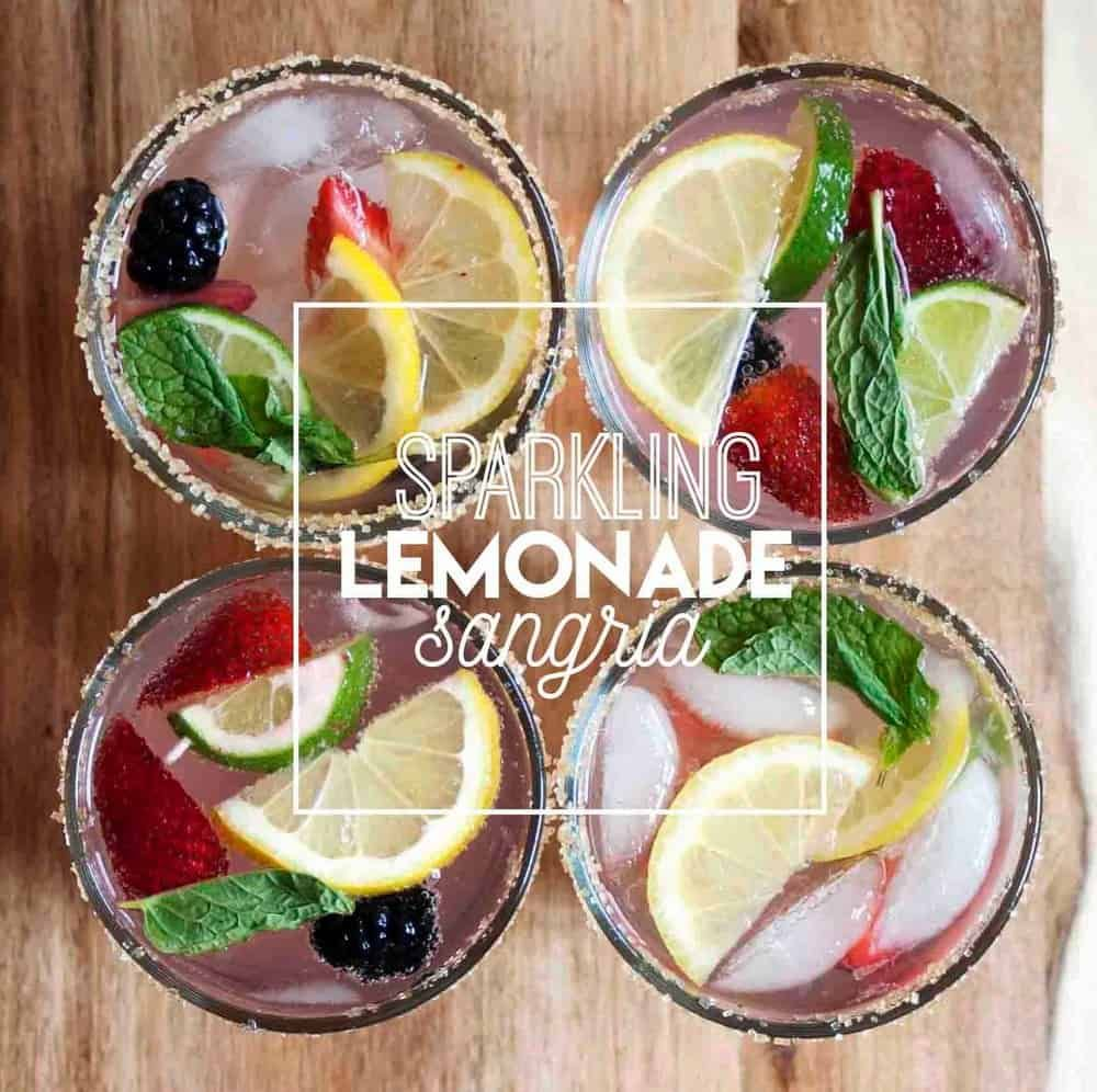 Sparkling Lemonade Sangria - College Housewife