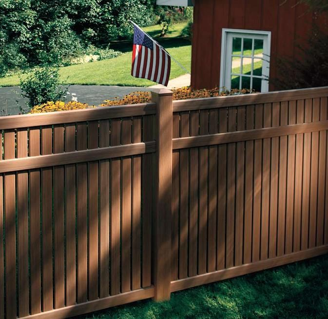 vinyl fence colors. Brown Vinyl Fence | As You Can See From The Image Above, Most People Would Colors