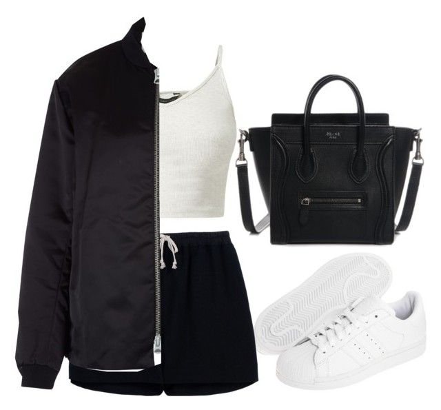 """Untitled #2687"" by ericacavaco12 ❤ liked on Polyvore featuring adidas Originals, Rick Owens and Acne Studios"