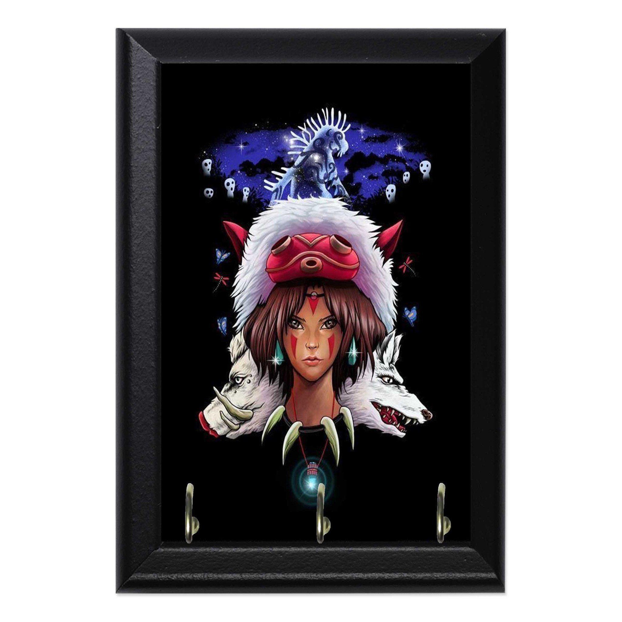 Photo of Princess Mononoke Anime Geeky Wall Plaque Key Holder Hanger – 8 x 10 / No