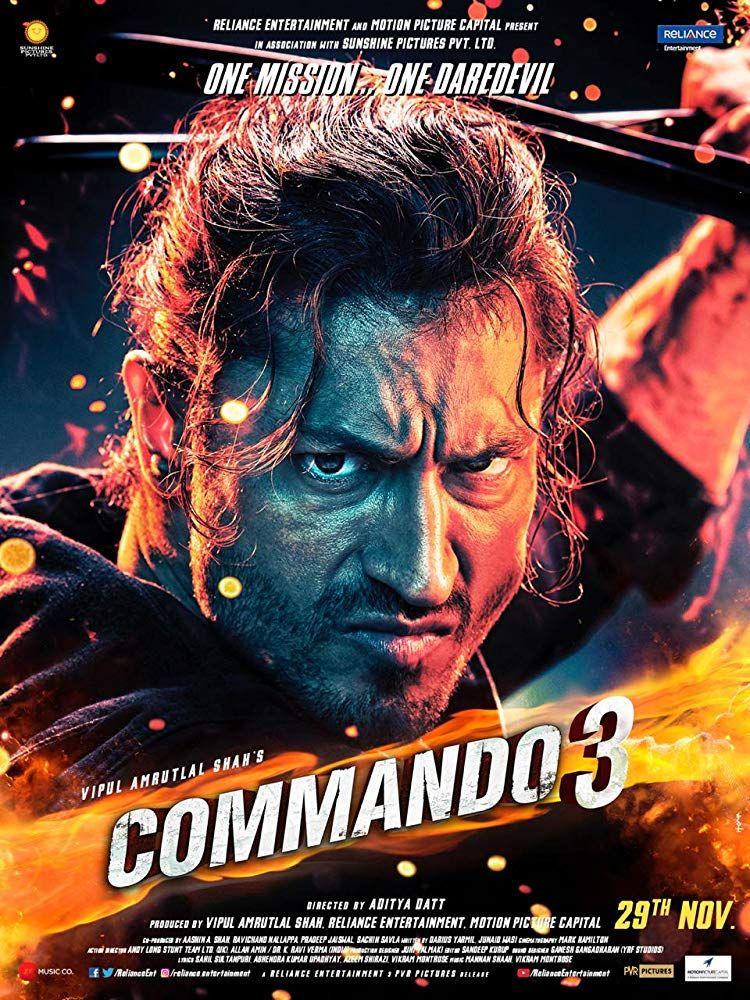 Commando 3 2019 720p Pre Dvdrip Full Hindi Movie Download Director Aditya Datt Writers Darius Movie Character Posters Hindi Movies Latest Bollywood Movies