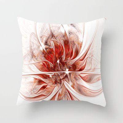 Fractal Flower Erotica Throw Pillow by Fine2art - $20.00