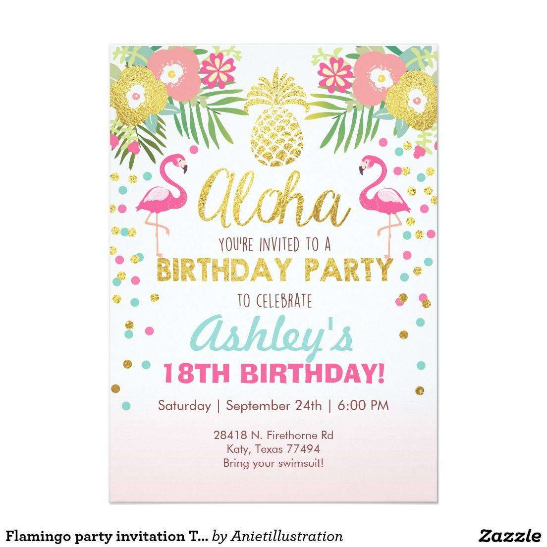 Your Custom X Invitations Th Birthday Pinterest - Birthday invitation zazzle