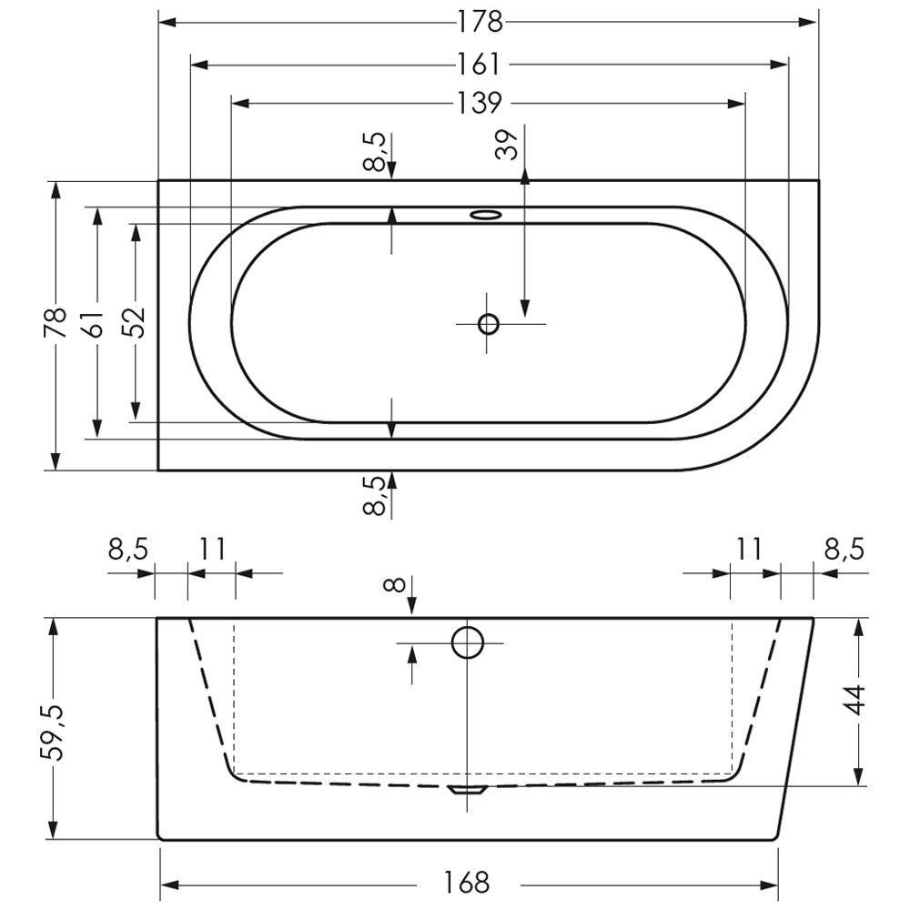 Steinkamp Living Freistehende Eck Badewanne 180 X 80 Cm Rechts St010er Megabad Floor Plans Bathroom Math