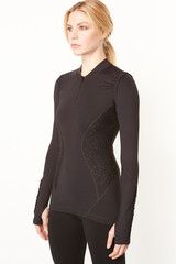 Vimmia Lace Zip Pullover in Black