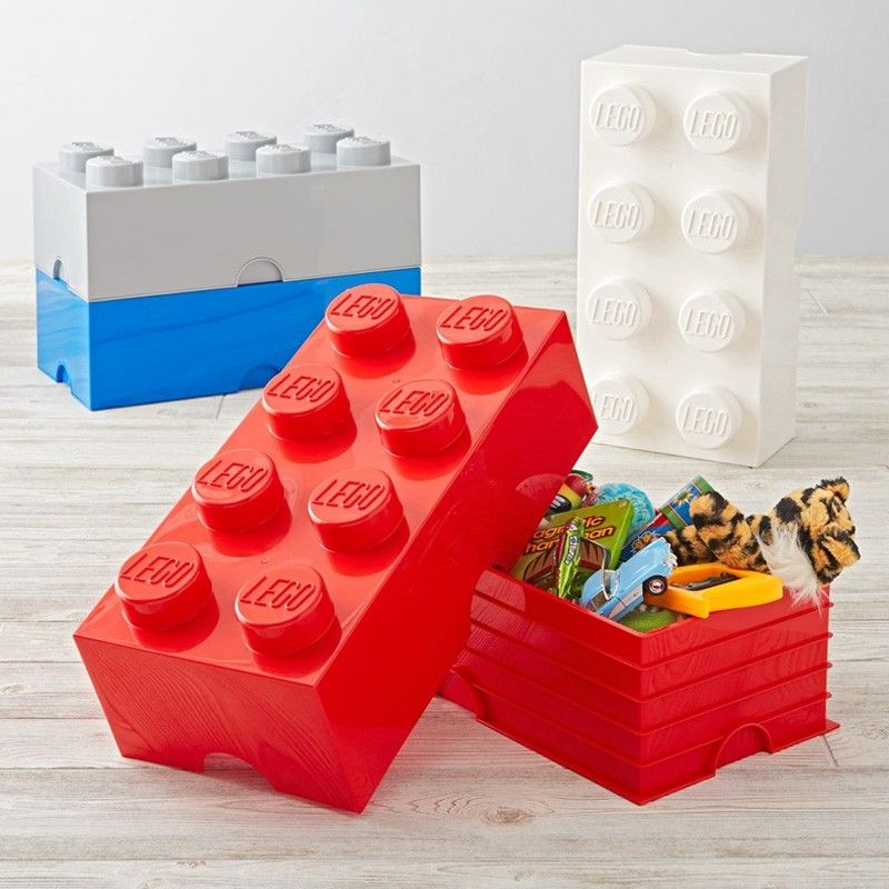 Lego Storage Brick - Red - 2 Sizes Available | Lego storage brick ...
