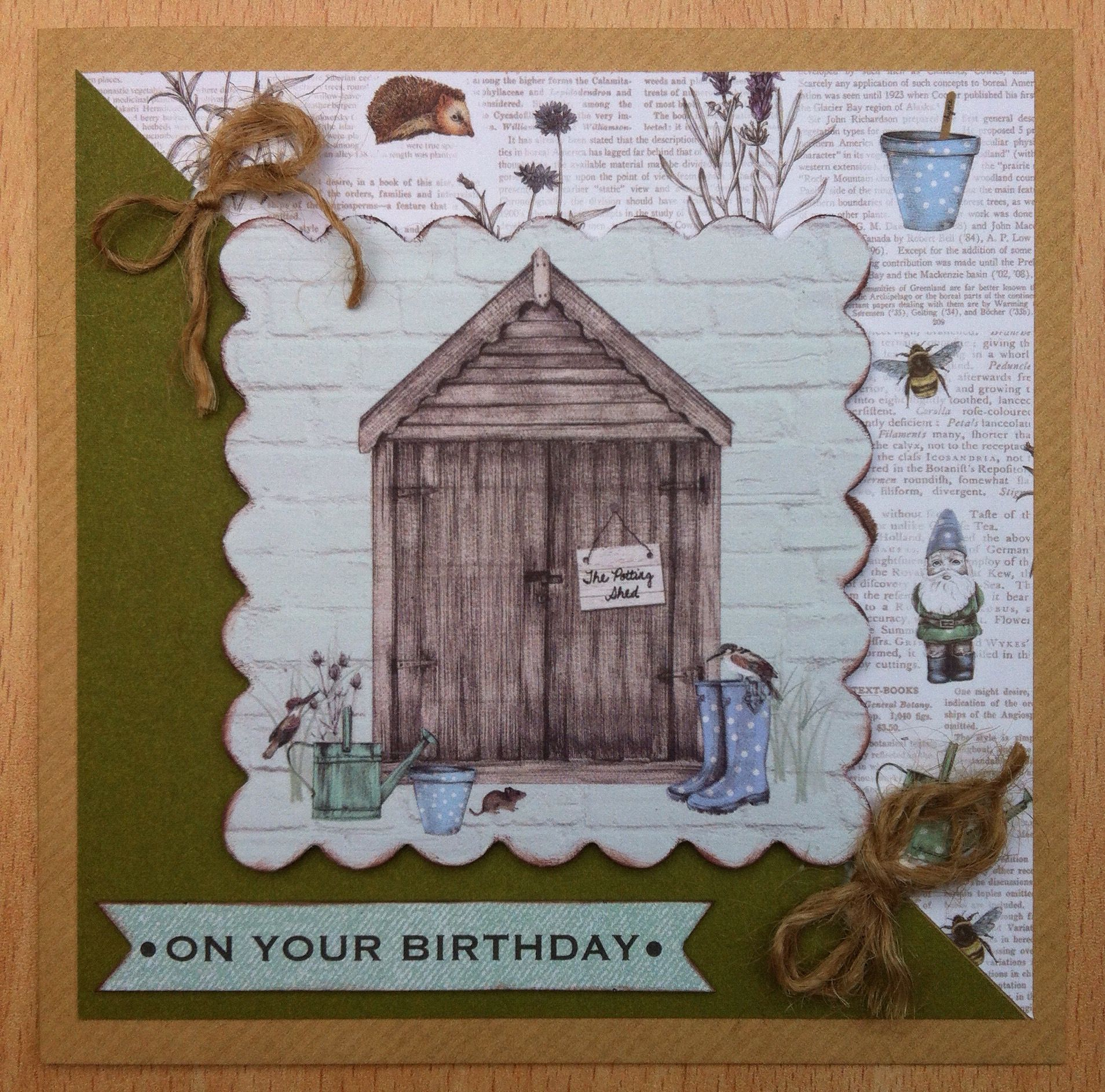 Craftwork cards potting shed ll handmade greeting cards