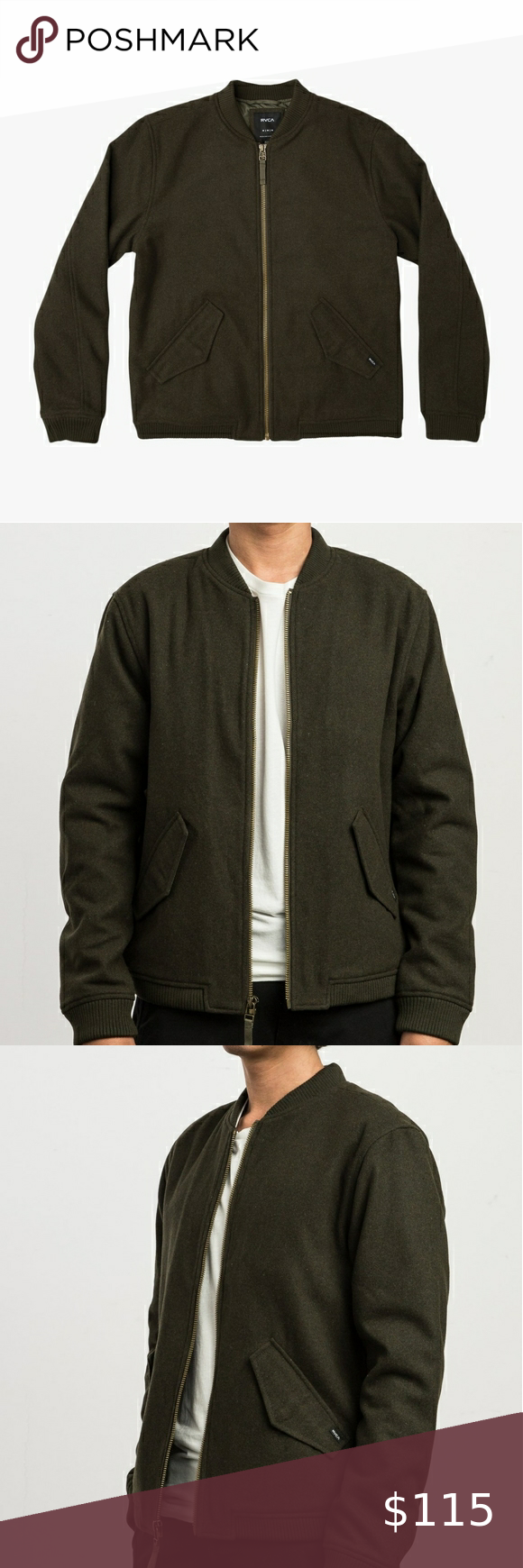 Rvca Collective Wool Bomber Jacket Mens S M704srvo Wool Bomber Jacket Bomber Jacket Rvca Jacket [ 1740 x 580 Pixel ]