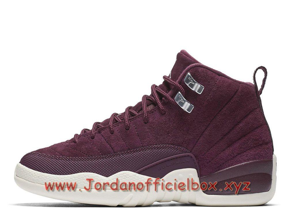 Air Jordan 12 Retro Bordeaux GS 153265-617 Chaussures Jordan officiel Pour  Femme/enfant