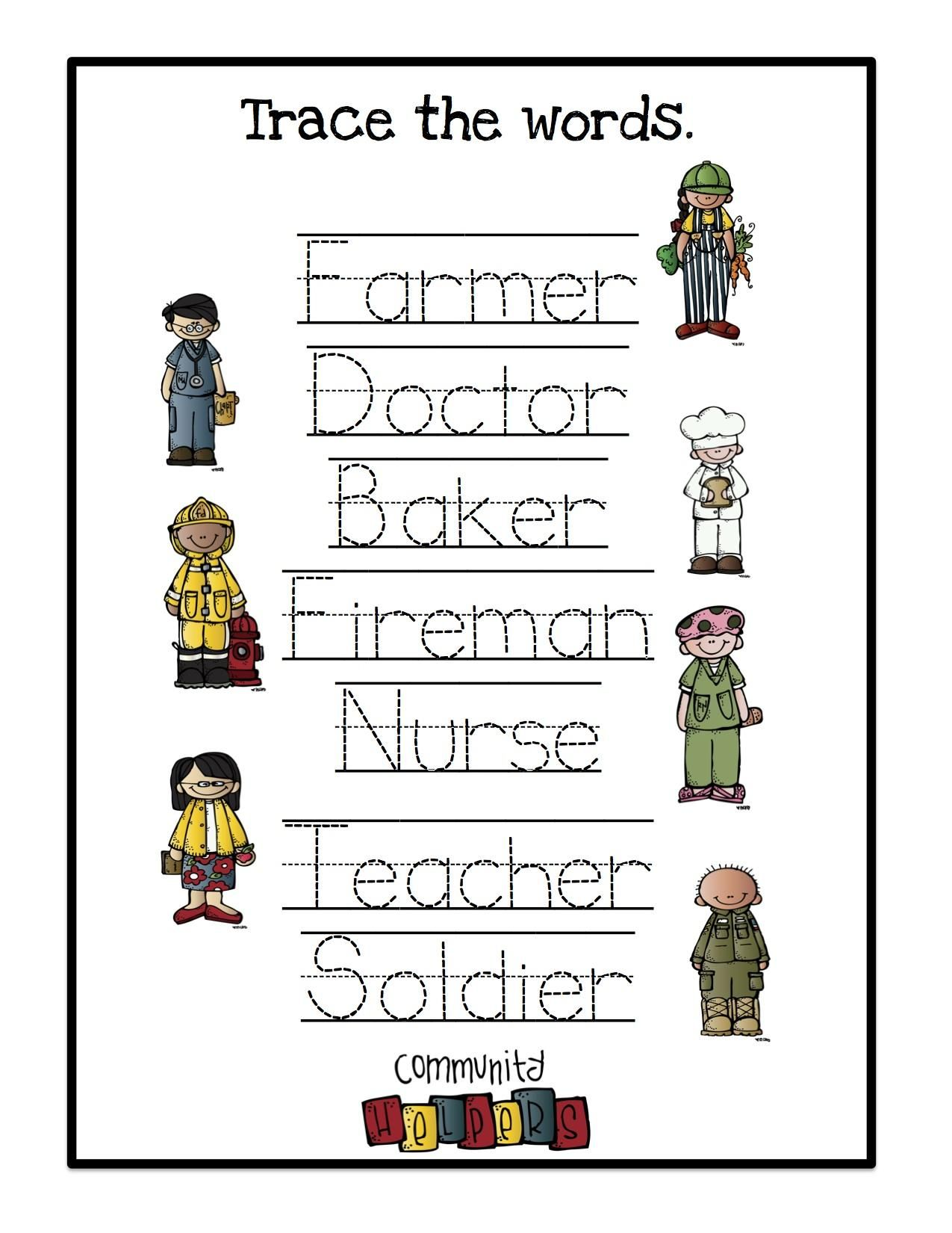 Preschool Worksheets About Community Helpers
