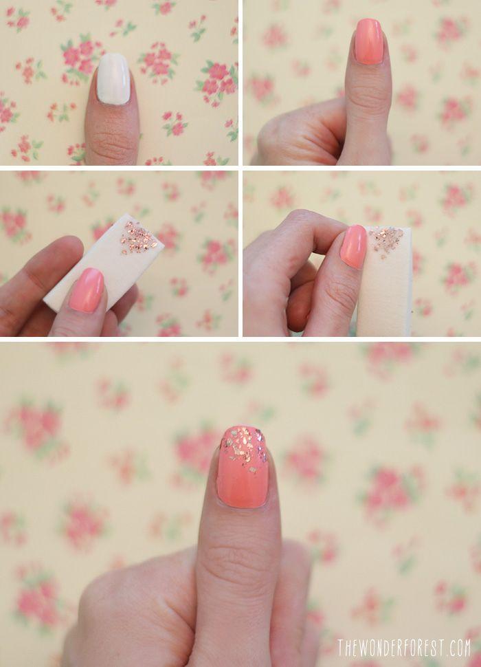Pink crush nail polish tricks glitter nails white nail polish nail polish tricks solutioingenieria Images