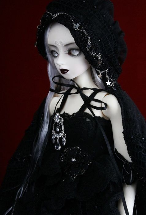 Probably she isn't handcrafted, but she is lovely #Gothic, #Doll #Toy