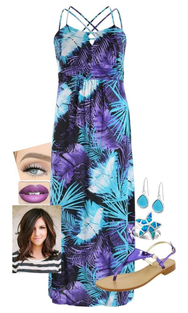 """""""Untitled #444"""" by madmichi on Polyvore featuring Samya, Sofia M., Bling Jewelry, QVC and plus size dresses"""