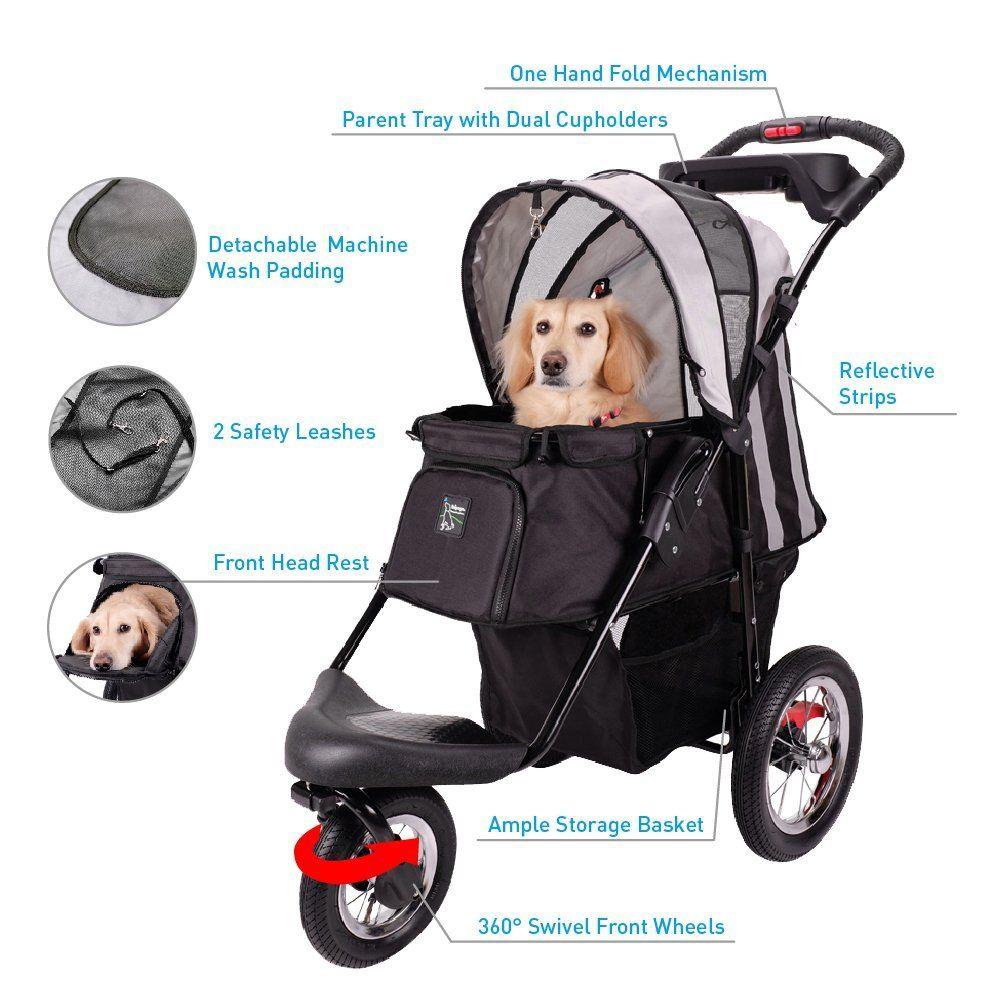 Sturdy Dog Stroller, Cat Stroller for Heavy