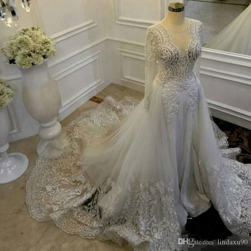 Discount Vintage Zuhair Murad Wedding Dresses With Detachable