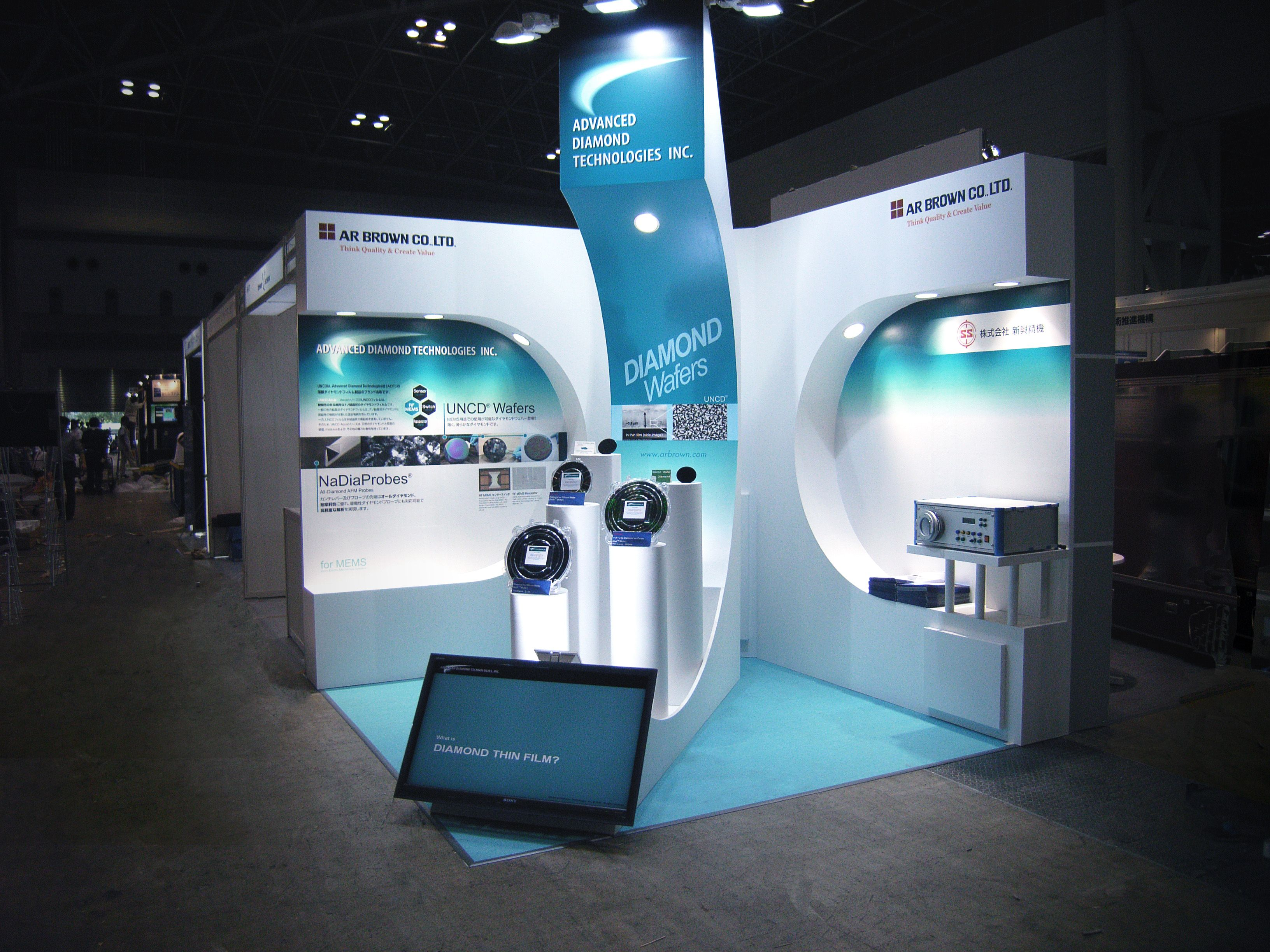 Corner Exhibition Stands Xl : Tradeshow exhibit design corner display triadcreativegroup