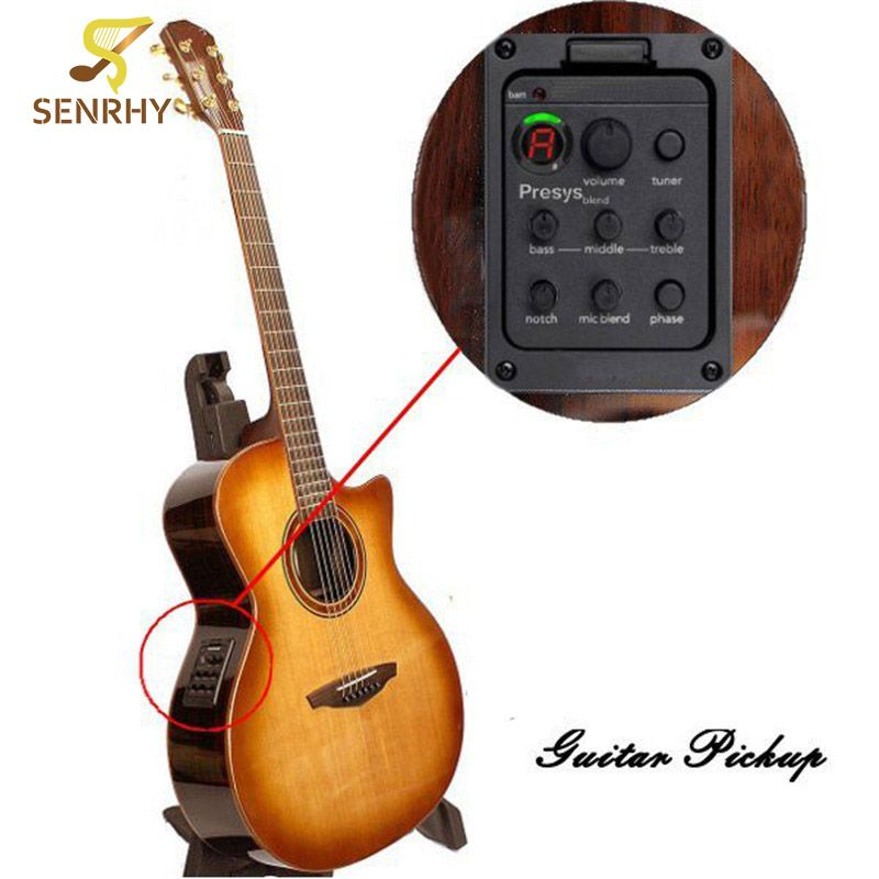 Guitar Pickups Presys Blend Dual Mode Guitar Tuner Piezo Pickup Equalizer System With Mic Beat Board Pickups Guit Acoustic Guitar Pickups Guitar Pickups Guitar