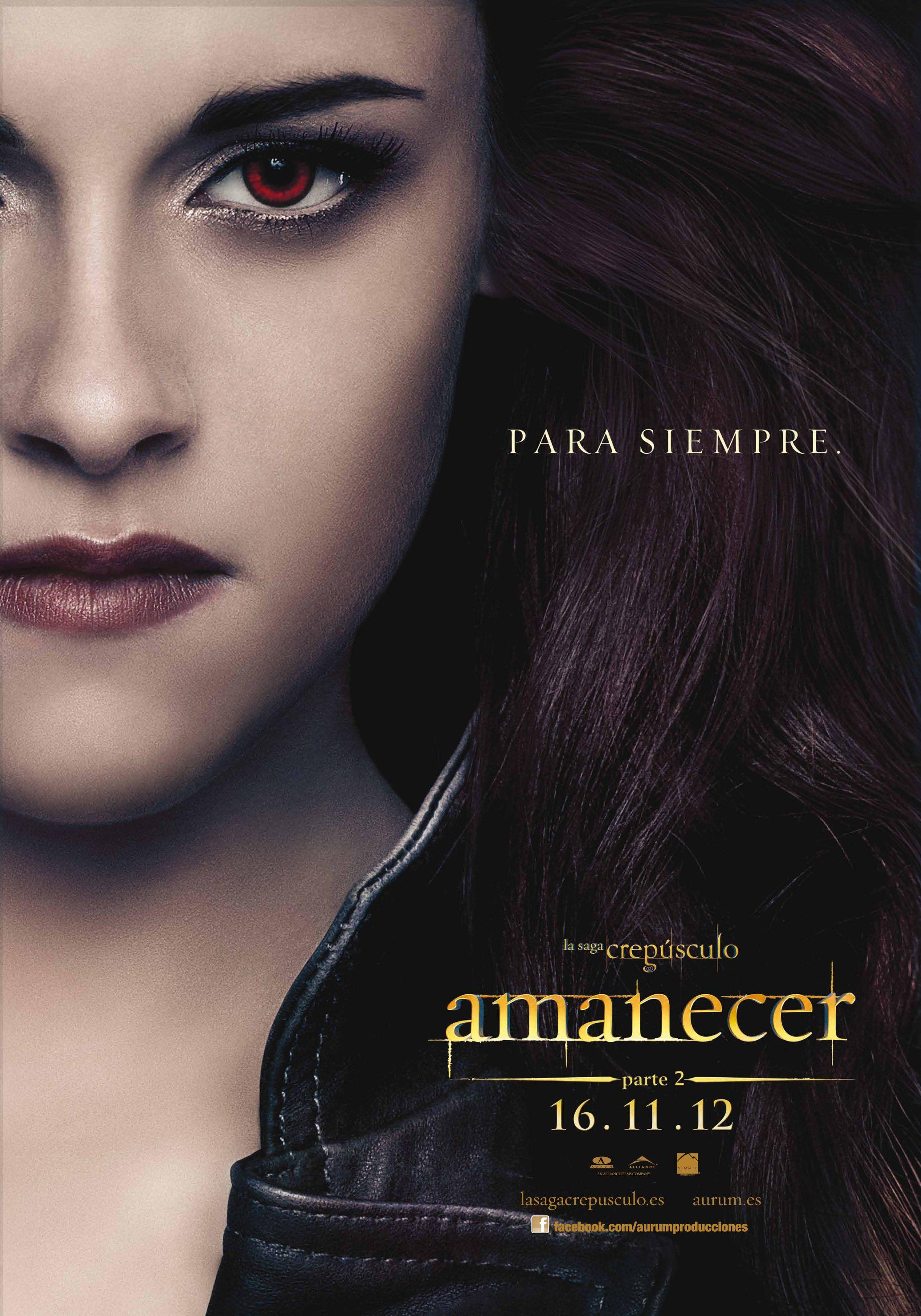 Poster En Castellano De Amanecer Parte 2 Saga Crepusculo