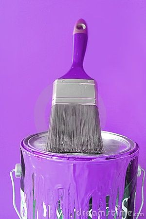 Purple Paint Accent Color This Was My Daughters In Her Baby Room