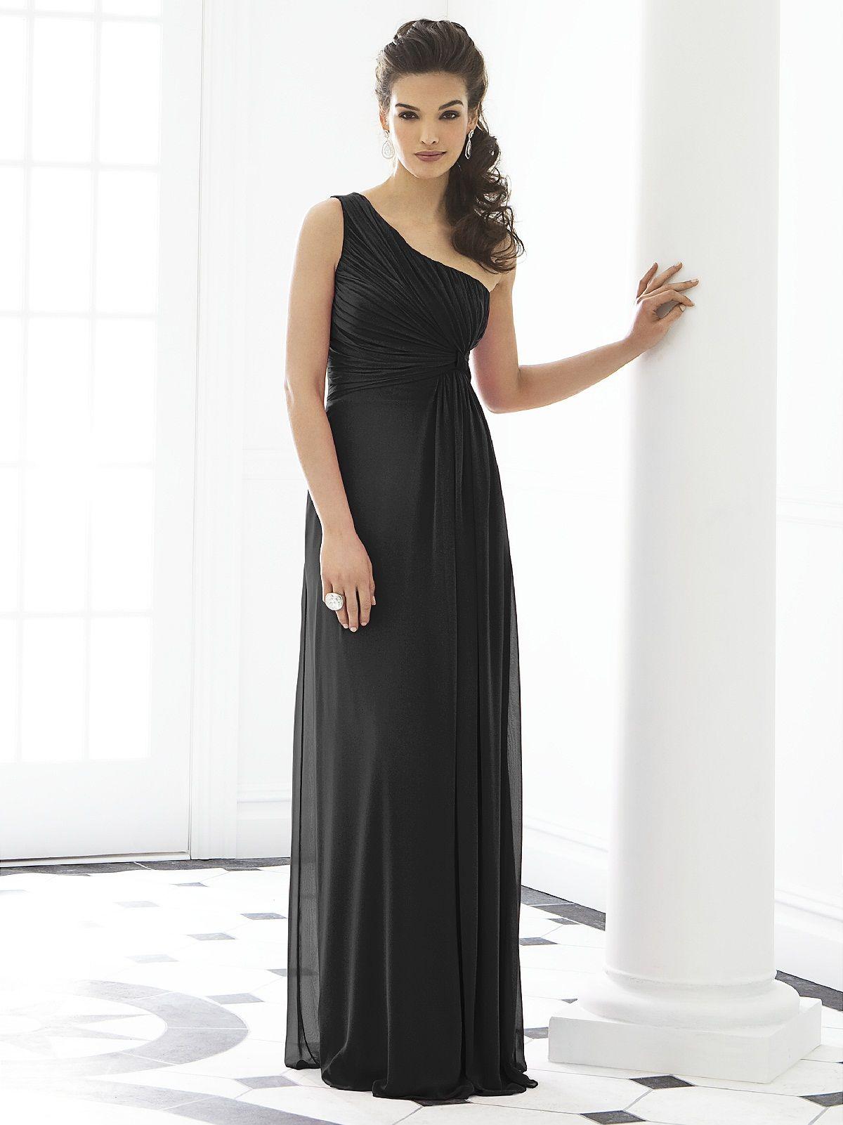 After six bridesmaid dress long black bridesmaid dresses