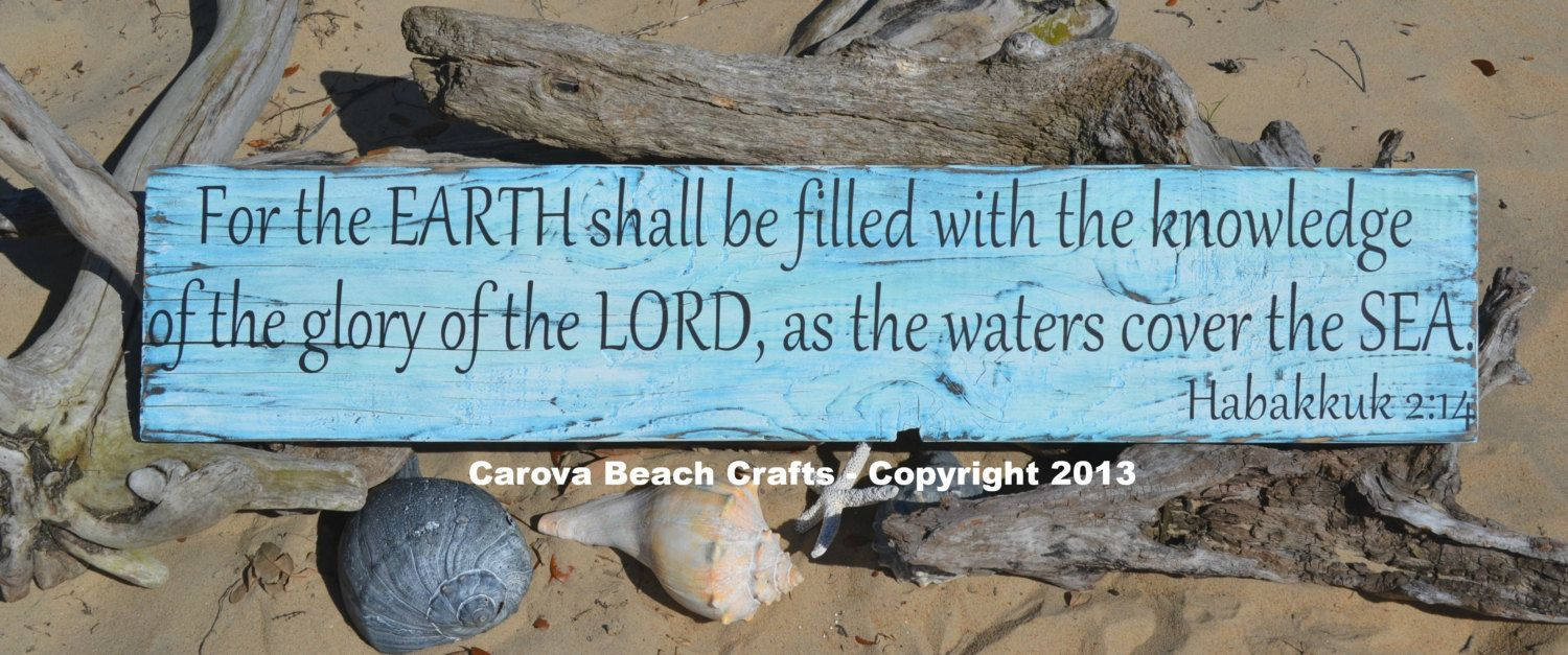 Scripture  Ocean  Beach Decor  Verse  Beach by CarovaBeachCrafts, $64.00