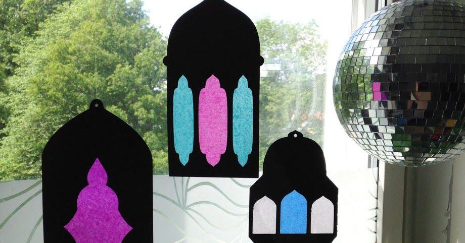 طريقة عمل زينة رمضان من الفوانيس الورقية المعلقة Ramadan Decorations Ramadan Activities Paper Lanterns