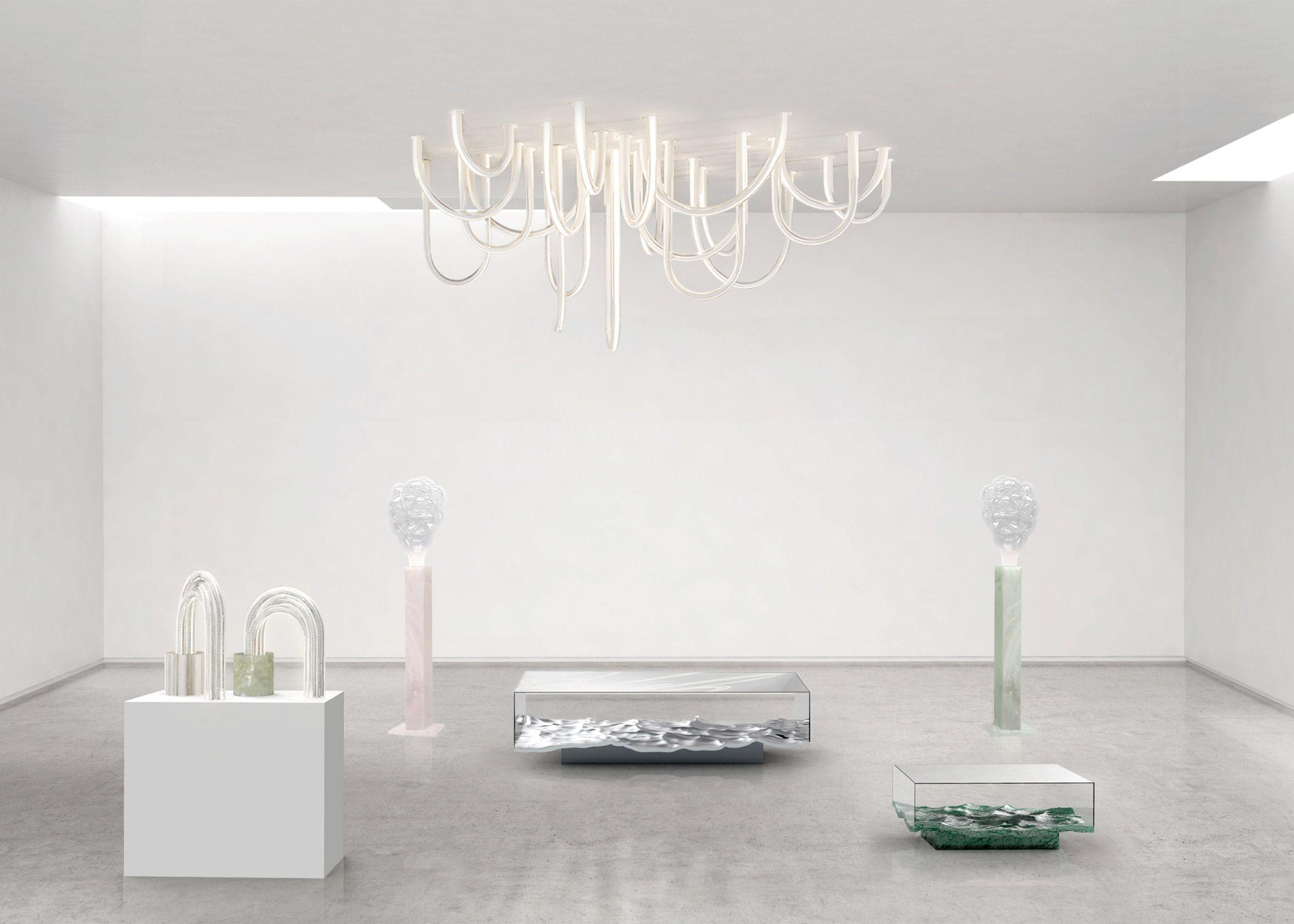 Mathieu Lehanneur S Spring Exhibition Includes New Liquid Marble  # Muebles Kowalczuk