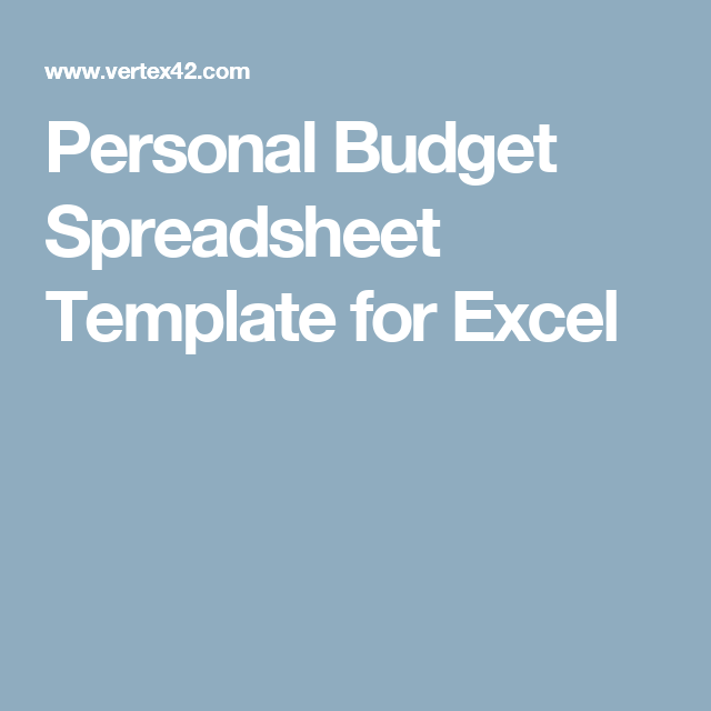 Personal Budget Spreadsheet Template for Excel | Adulting ...