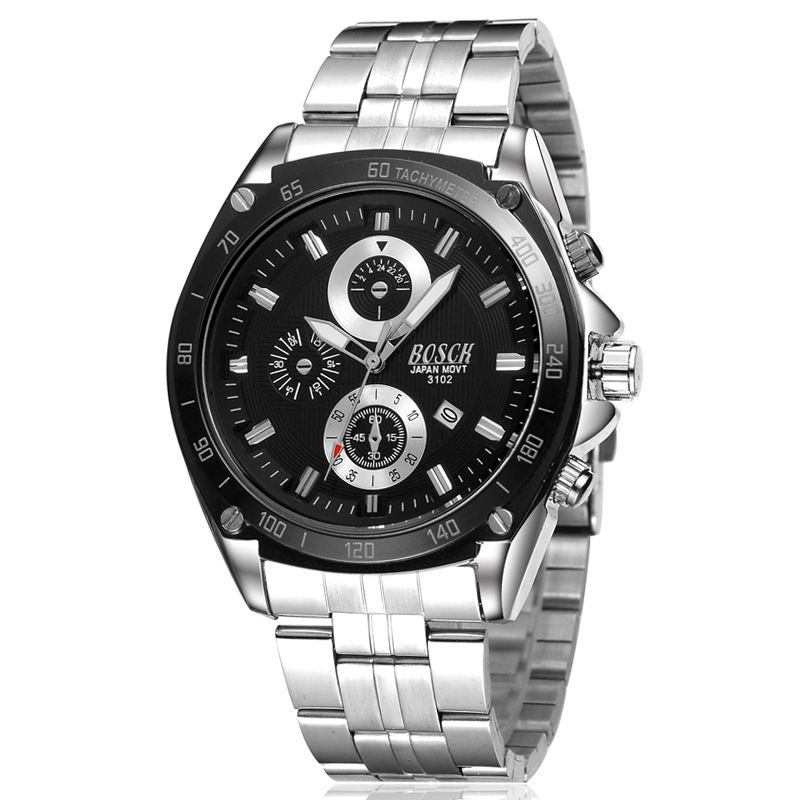 $13.98 (Buy here: http://appdeal.ru/8jbv ) Luxury brand quartz watch, men's waterproof watch. Military sports watch stainless steel table. Gift table clock. Hours for just $13.98