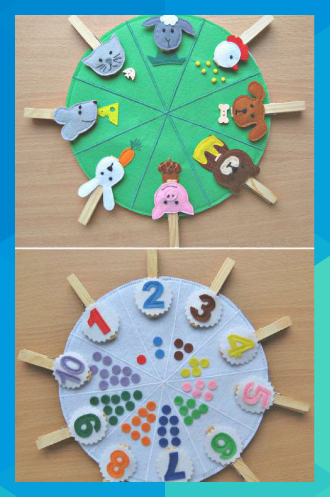 Double sided felt educational toys, matching number busy ...