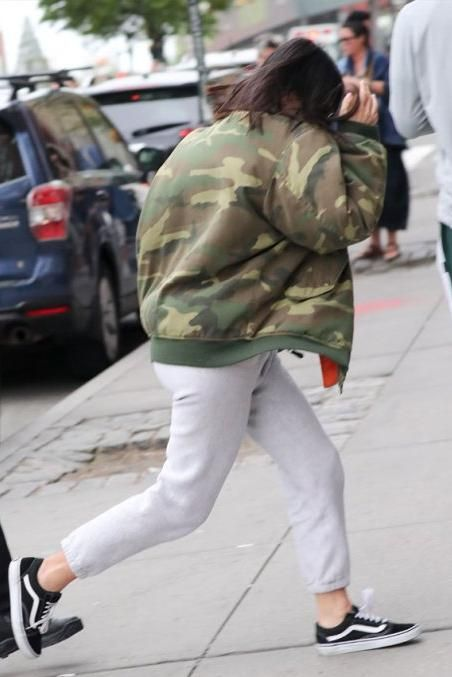 Kim Kardashian wearing Vans Old Skool Sneakers in Black 7429abb7b7b9