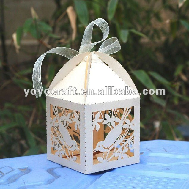Hot Salewedding Favor Cake Boxbird Cagecandy Box