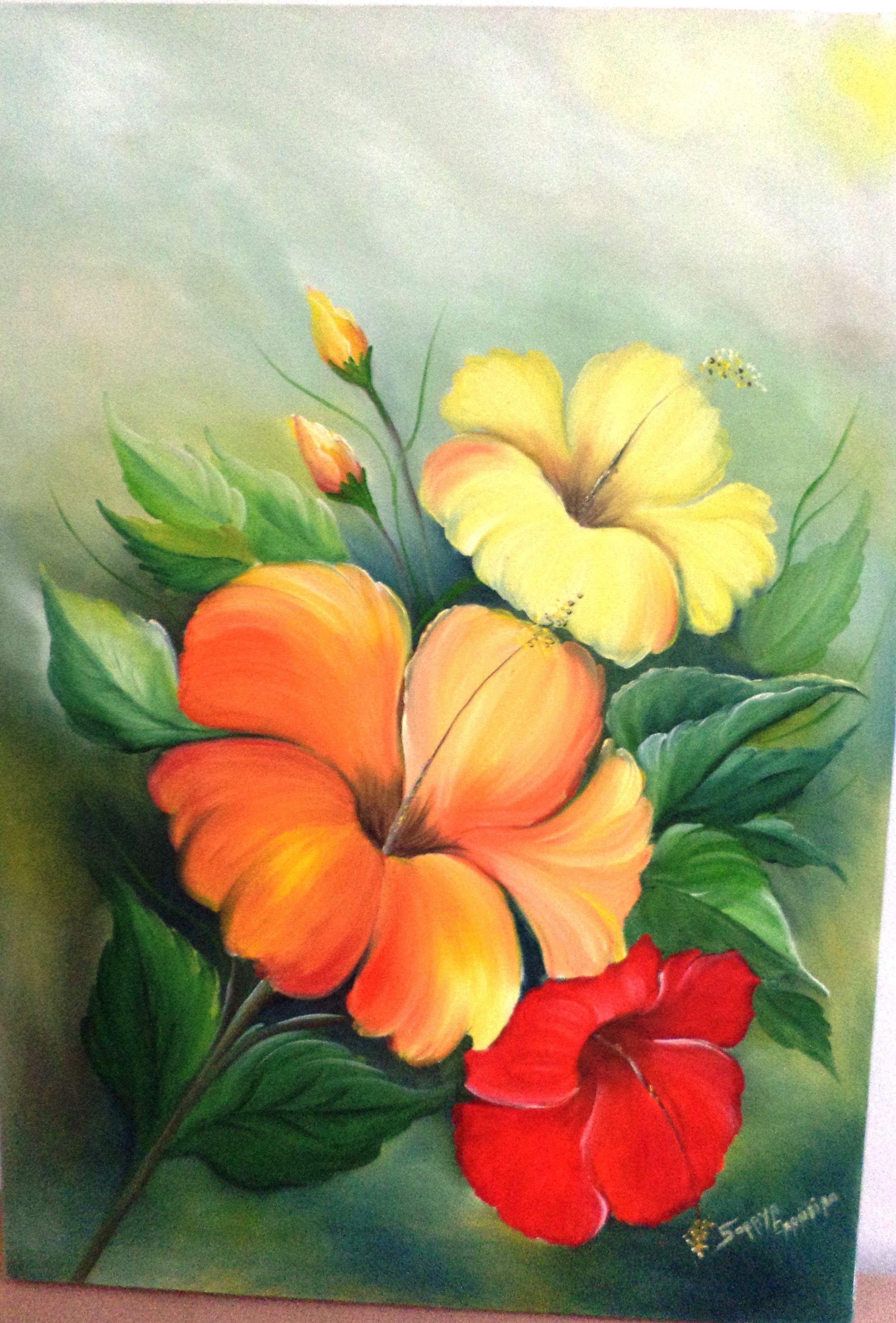 leo sobre tela  dibujo y arte  Pinterest  Flowers Paintings