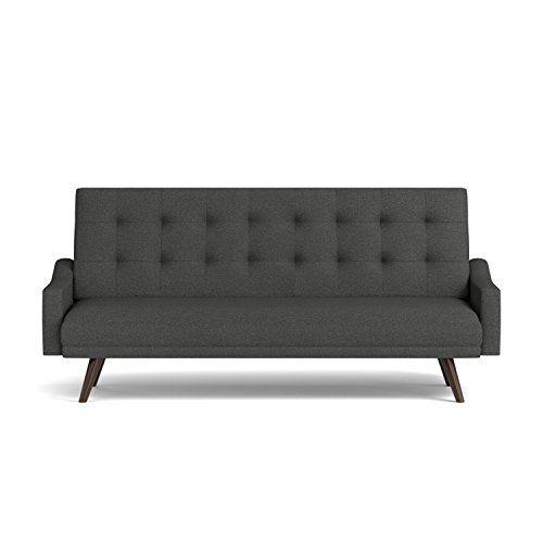 Handy Living Oakland Click Clack Futon Sofa Bed Charcoal
