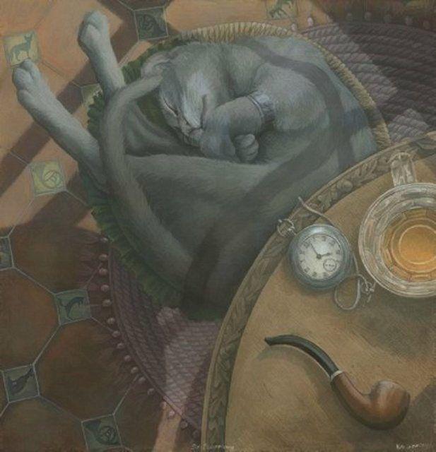 7f11388c5206b Художник иллюстратор Кейт Лейпер (Kate Leiper)   Arte Gatos Cats Art ...