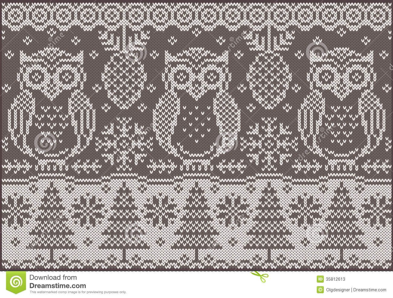 Knitted christmas google keress knitting pinterest google knitted pattern with owls vector creative illustration with winter birds by olgdesigner via shutterstock bankloansurffo Image collections