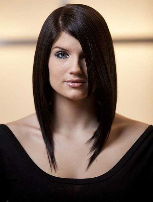 Long Inverted Bob With Side Swept Bangs Jpg 500