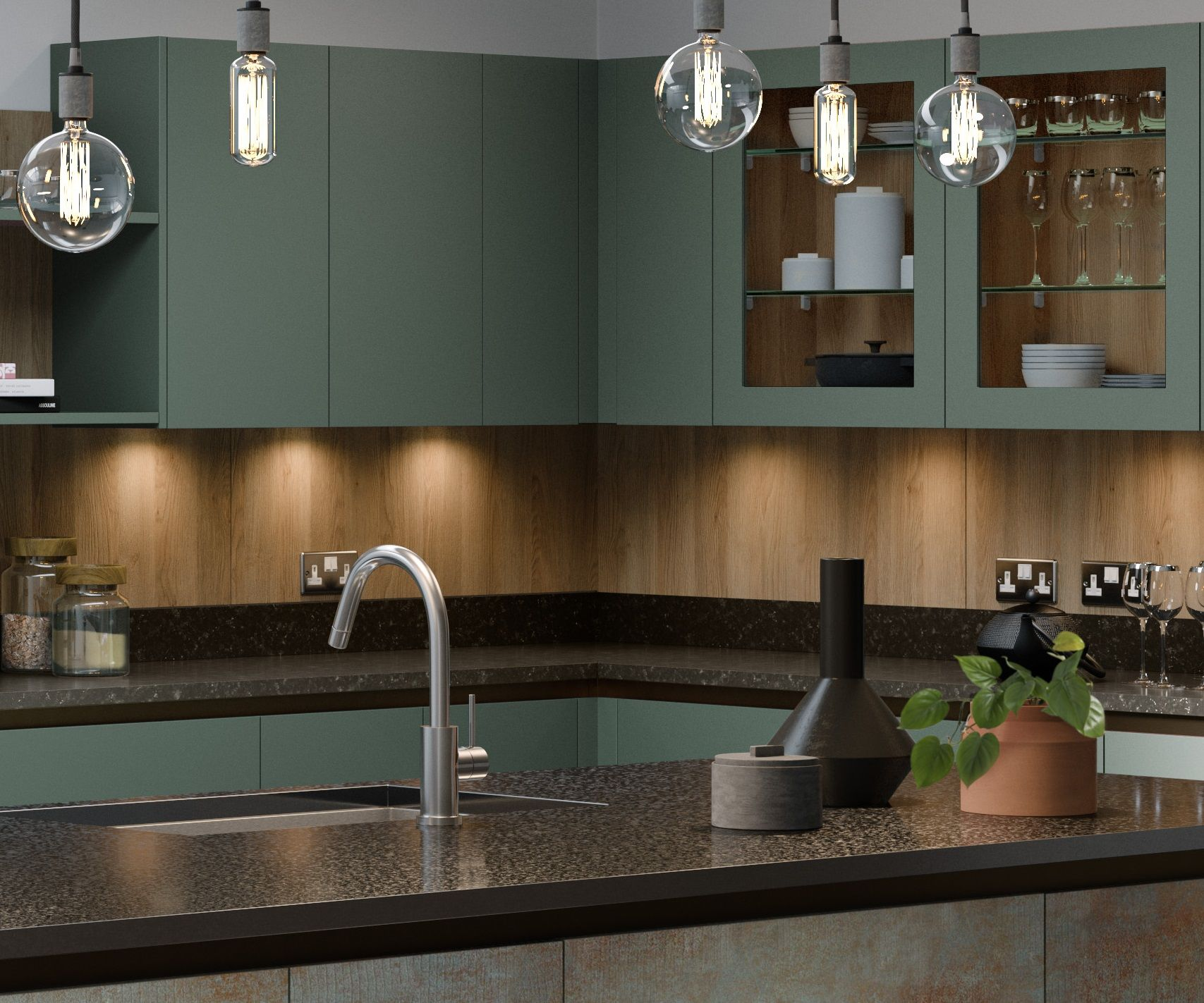 Great Ways For Lighting A Kitchen: A Great Way To Bring Areas Of Your Kitchen To Life Is