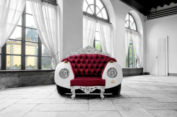 Prächtiger Sessel - Der unkonventionelle Stil trifft das Barock