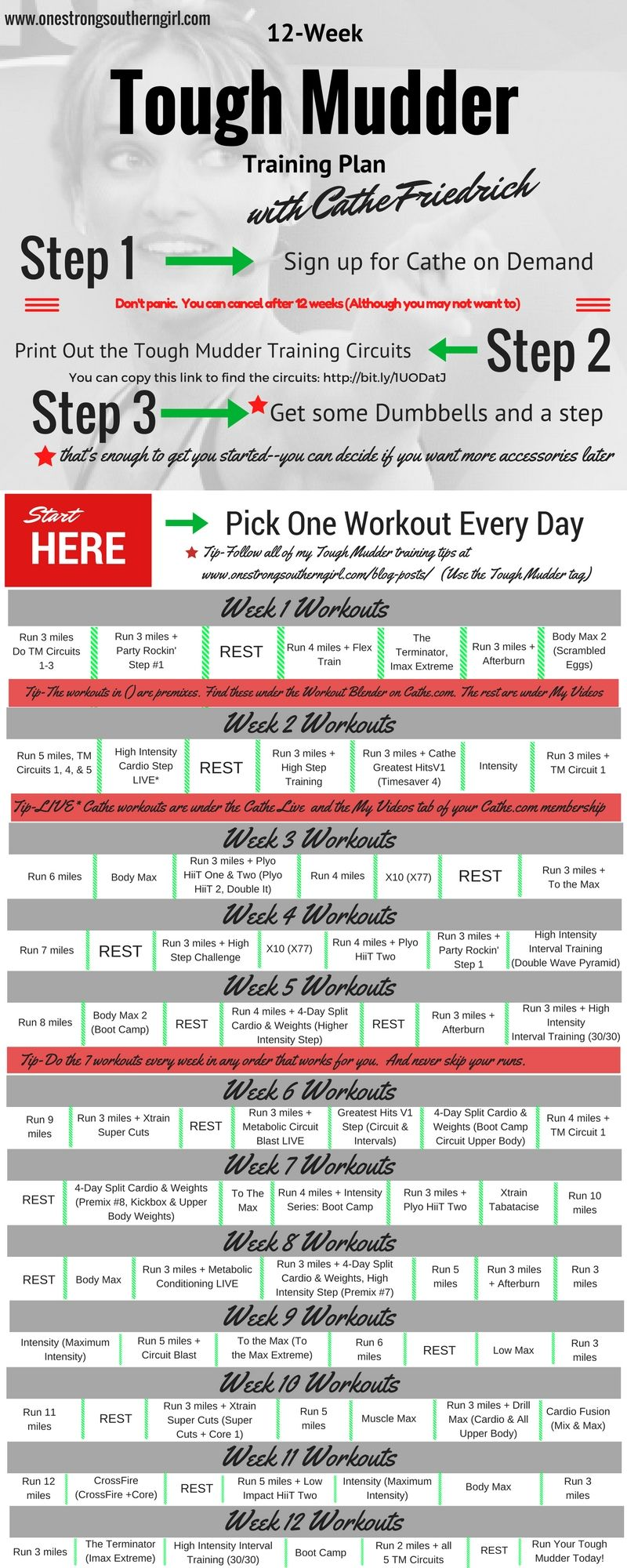 Tough Mudder Training TemplateWeek One  Workout Template And