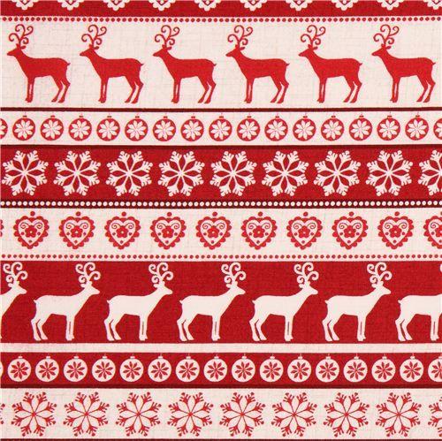 Scandi Navidad ** Venta ** colección De Tela MAKOWER Reno