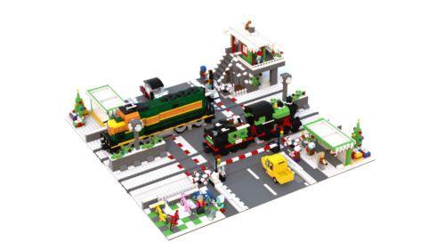 Lego Custom Holiday Level Crossing For All Lego Trains
