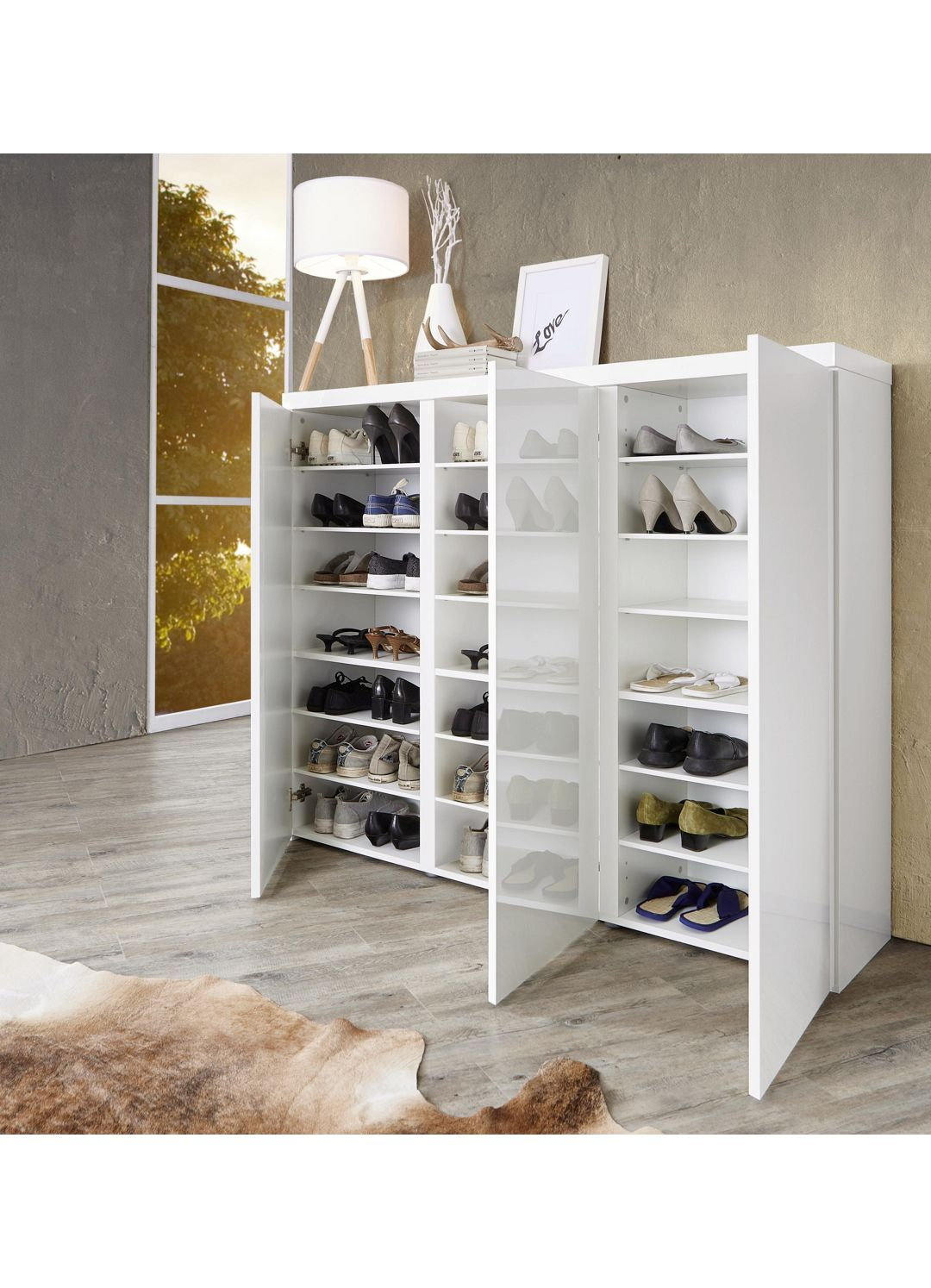 Schuhschrank Weiss Weiss Modern Holzwerkstoff 144 120 35cm
