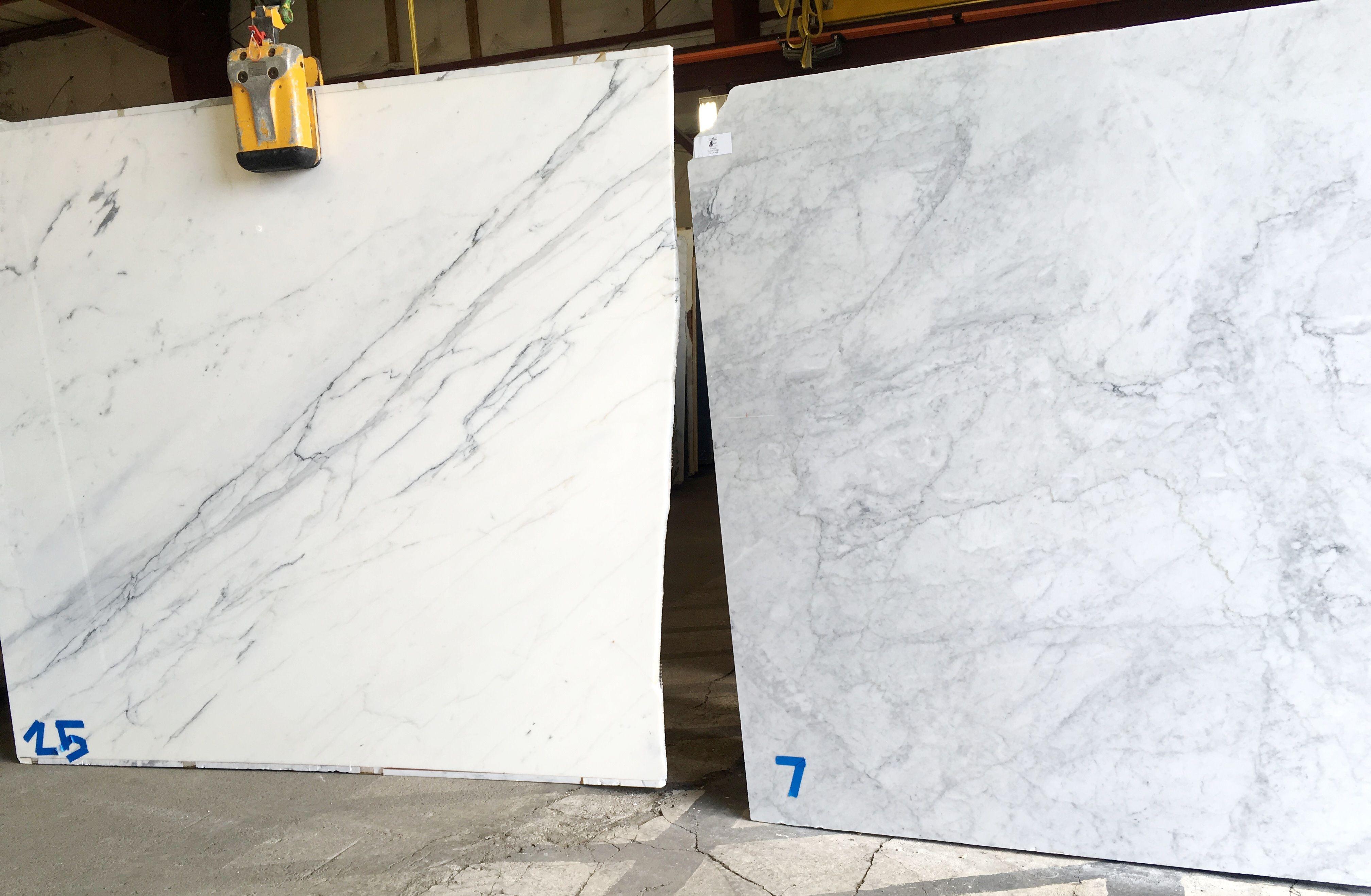 Calacatta Compared To Carrara Marble Both Italian Marbles Marble Slab Marble Backsplash Marble Countertops