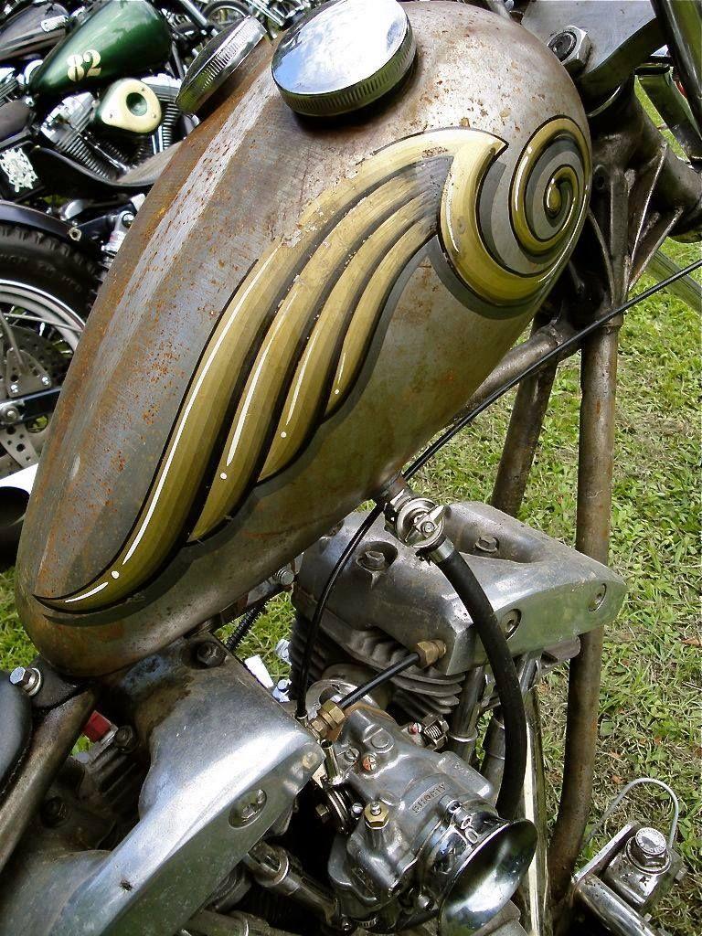 Custom Paint Job Inspirations Bobber Chopper Gas Tanks Motorcycles Old School Vintage Style Bike Art Custom Paint Motorcycle Motorcycle Tank Bike Tank