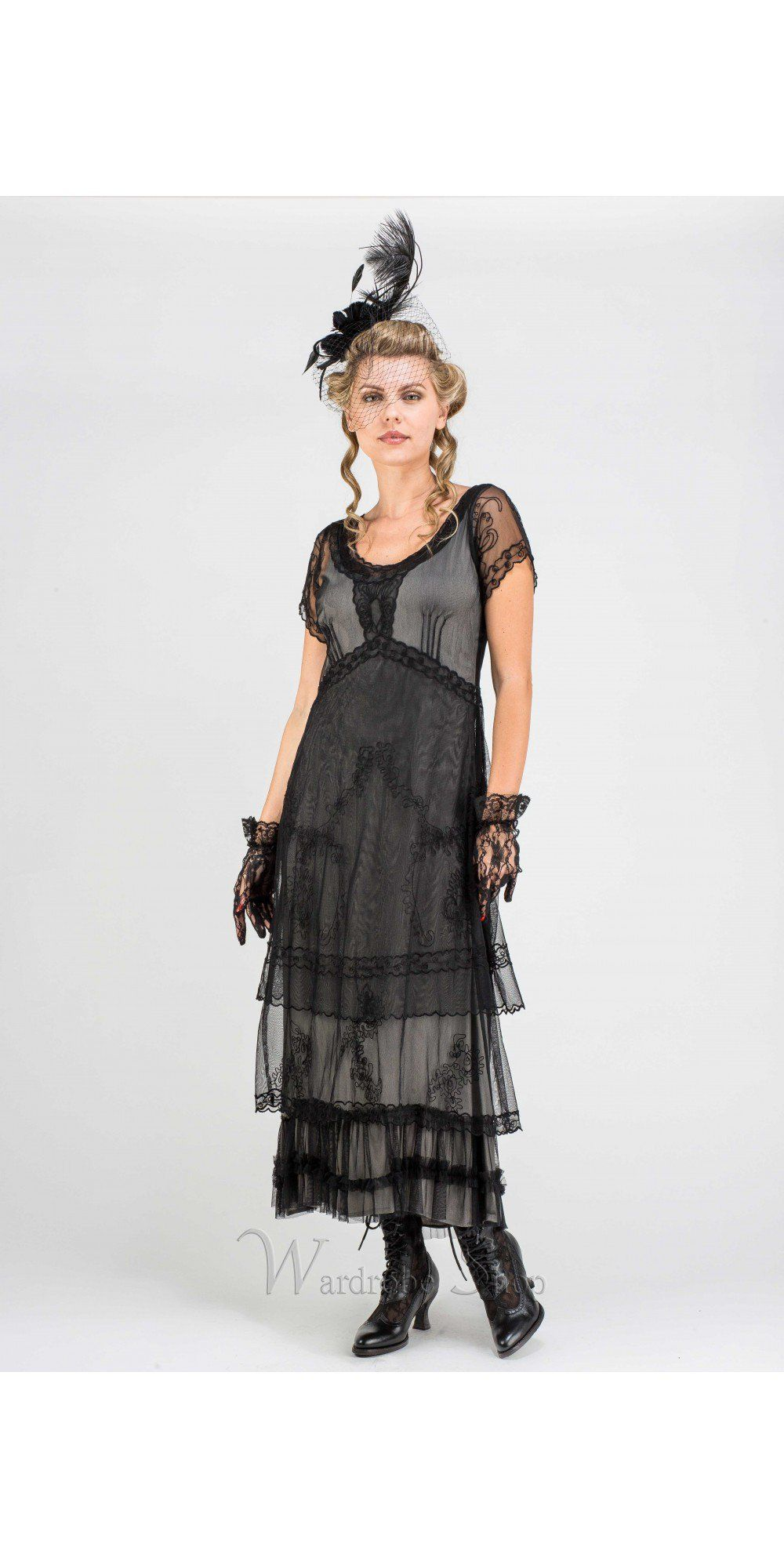 Arrianna Cl 169 Vintage Style Party Dress In Black By Nataya