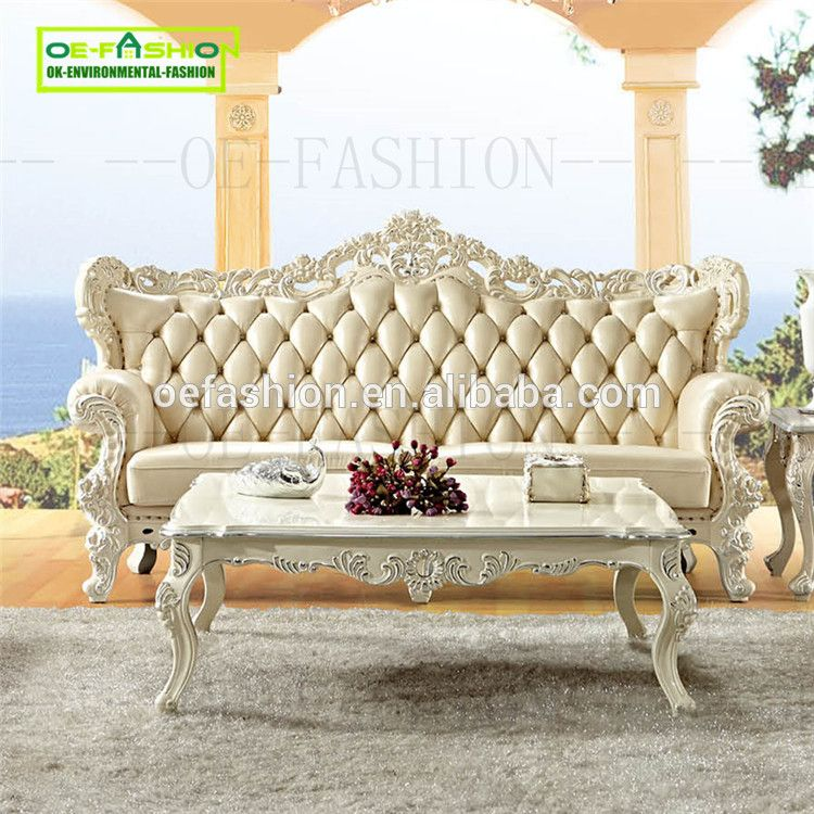 Oefashion Italian Latest Design White Living Room New Model Luxury