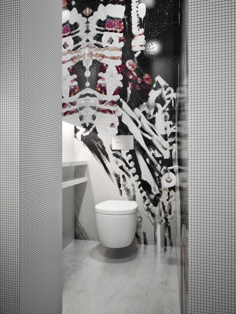 Minimalist Bathroom Designs With Wall Texture Decor Which Looks So ...