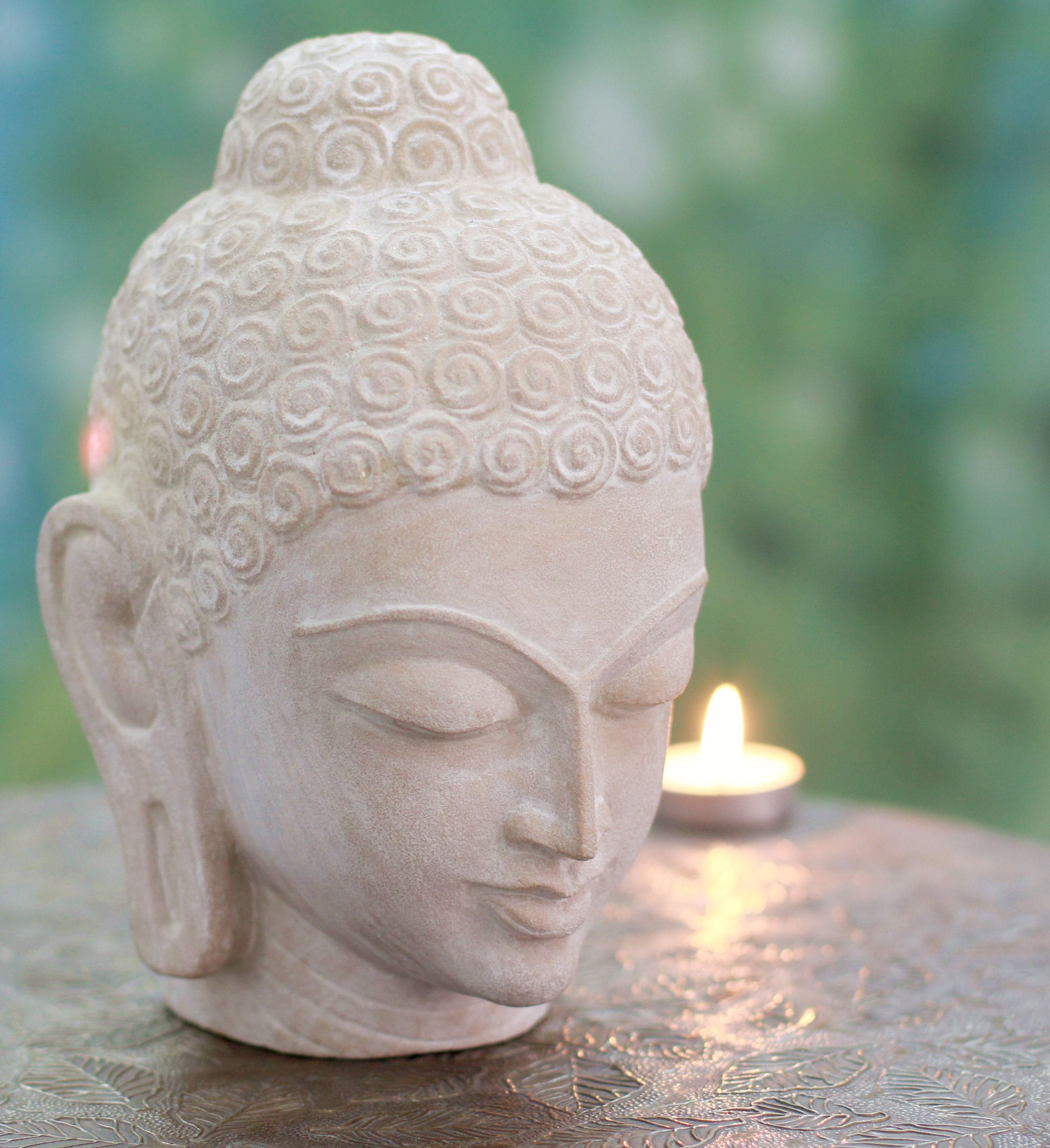 Sandstone Buddha Statue,Hands Namaste Yoga Mudra Abstract Sculptures Home Decor,Elegant Decorations