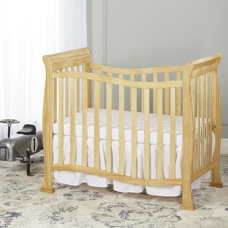 Dream On Me Piper 4-in-1 Convertible Mini Crib - Natural ...